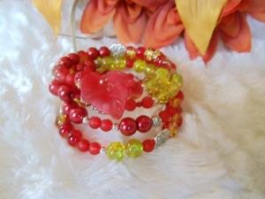 Wickelarmband aus Unterschiedlichen Perlen und Spacern - Handarbeit kaufen