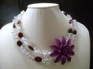 Karin Statement Jewelry Neclaces lila - Handarbeit kaufen