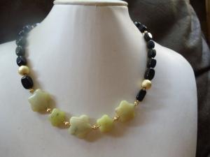 Obsidan mit Lemon-Jade Jewelry Neclaces - Handarbeit kaufen