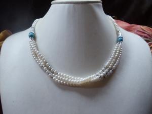 Zartes Biwa Perlen-Set 3-teilig Jewelry Neclaces - Handarbeit kaufen