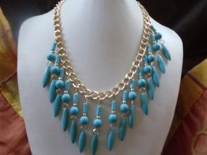 Howlith Türkis Statement Jewelry Neclaces Statement - Handarbeit kaufen