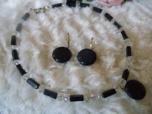 Zierliches Blauquarz-Set 3-teilig mit Kristallschliff Jewelry Neclaces