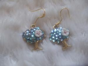 Süsse Ohrhänger vergoldet mit Strass Jewelry - Handarbeit kaufen