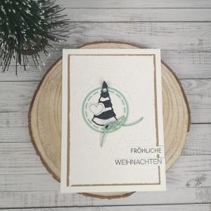 Handgemachte Weihnachtskarte - Weihnachtsbaum