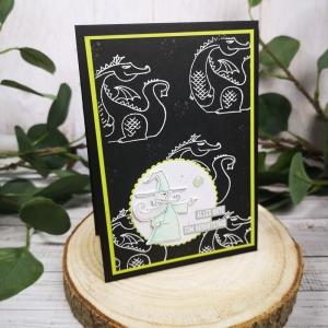 Geburtstagskarte für Jungs - von Zauberern und Drachen