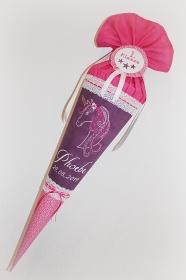 Schultüte Zuckertüte aus Stoff Einhorn