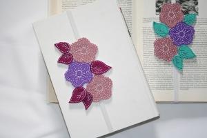 Lesezeichen aus Filz Blumentraum - Handarbeit kaufen