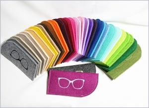 Brillenetui aus 3mm starkem Filz in vielen Farben - Handarbeit kaufen