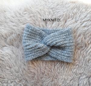 Stirnband, Alpaka, Wolle, grau, handgestrickt, Ohrenwärmer, gestrickt  - Handarbeit kaufen
