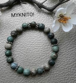 Perlenarmband, African Tourquoise, Halbedelstein, elastisch, unisex, Armband, Damen, Herren, Armband - Handarbeit kaufen