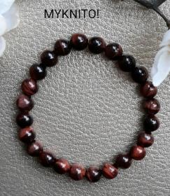Perlenarmband, Tiger Eye, Halbedelstein, elastisch, Perlen, Armband, Frauen, Männer, unisex - Handarbeit kaufen