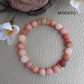 Perlenarmband, Jade, Halbedelstein, elastisch, Perlen, Armband, Frauen, Männer, unisex - Handarbeit kaufen