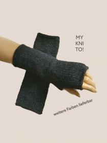 Kaschmir, Armstulpen, div. Farben, grau, schwarz, Alpaka, gestrickt, Pulswärmer, Handschuhe - Handarbeit kaufen