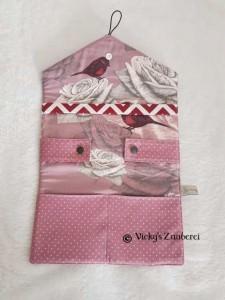 Handgefertigtes Haarspangen Etui aus Stoff