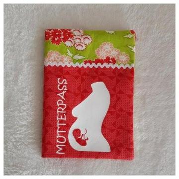 Handgefertigte Mutterpasshülle aus Stoff schönem Baumwollstoff (Kopie id: 22751)