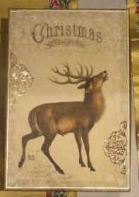 Schachtel Weihnachten, groß, Decoupage