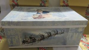 Papp Art Schachtel Weihnachten, groß, Decoupage