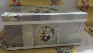Papp Art Schachtel Weihnachten, mittlere Größe, Decoupage