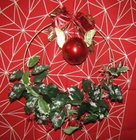 Weihnachtskranz, beleuchtet,Metallring, ca 30 cm