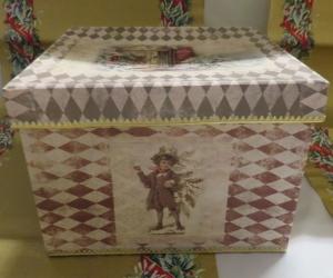 Weihnachten, Schachtel,Decoupage, quadratisch - Handarbeit kaufen