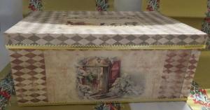 Weihnachten, Schachtel,Decoupage, rechteckig, groß