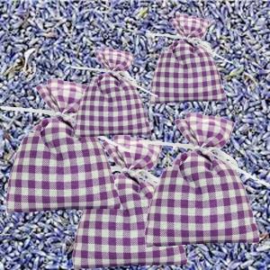 Fünf Lavendel-Duftsäckchen, Wäschesäckchen, Lavendelkissen aus Baumwolle