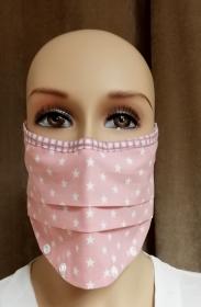 Mund Maske, Staubmaske, mit vielen Designs, nach unten offen für z.B. Astmatiker, Allergiker, unten mit Drucker zum schließen