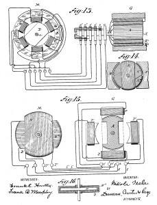 Kunstdruck Patentschrift  Elektromotor