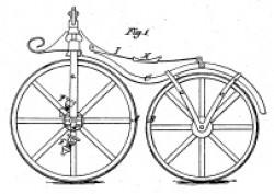 Kunstdruck Patentschrift  Fahrrad