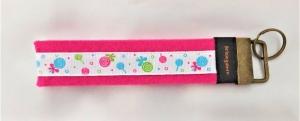 Schlüsselanhänger aus Filz in Pink-Bunt mit Lollies Unikat Liebevolle Handarbeit - Handarbeit kaufen
