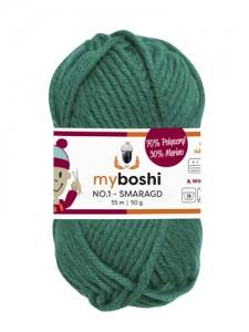 My Boshi No 1. - 50g Smaragd 123 Lieblingsfarben - Wolle kaufen - Handarbeit kaufen