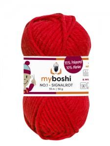 My Boshi No 1. - 50g Signalrot 132 Lieblingsfarben - Wolle kaufen - Handarbeit kaufen