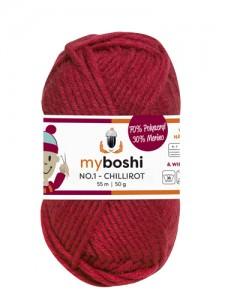 My Boshi No 1. - 50g Chillirot 134 Lieblingsfarben - Wolle kaufen - Handarbeit kaufen