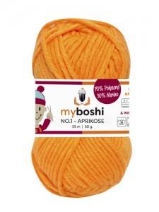 My Boshi No 1. - 50g Aprikose 137 Lieblingsfarben - Wolle kaufen - Handarbeit kaufen