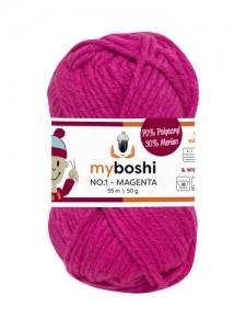 My Boshi No 1. - 50g Magenta 162 Lieblingsfarben - Häkelgarn kaufen - Handarbeit kaufen