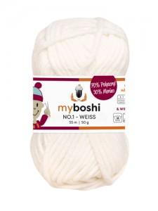 My Boshi No 1. - 50g Weiss 191 Lieblingsfarben - Häkelgarn kaufen - Handarbeit kaufen
