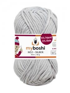 My Boshi No 1. - 50g Silber 193 Lieblingsfarben - Häkelgarn kaufen - Handarbeit kaufen