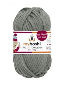 My Boshi No 1. - 50g Titangrau 194 Lieblingsfarben - Häkelgarn kaufen - Handarbeit kaufen
