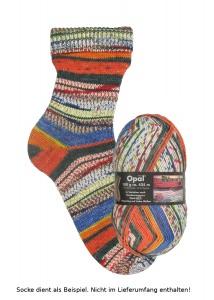 Opal Hundertwasser Sockenwolle - 1435 Regentag auf die Liebe Wellen