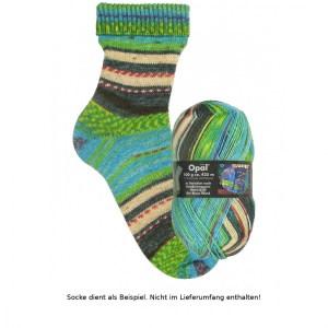 Opal Hundertwasser Sockenwolle 100g - 1432 Der Blaue Mond - Handarbeit kaufen