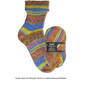 Opal Hundertwasser Sockenwolle 100g - 2100 Die Nachbarn I - Handarbeit kaufen