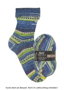 Opal Hundertwasser Sockenwolle - 1437 Singender Dampfer
