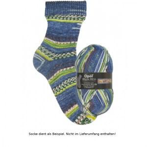 Opal Hundertwasser Sockenwolle 100g - 1437 Singender Dampfer - Handarbeit kaufen