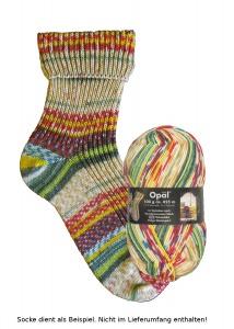 Opal Hundertwasser Sockenwolle - 2104 Winterbild Polyp Wintergeist