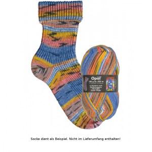 Opal Hundertwasser Sockenwolle 100g - 2103 Tender Dinghi - Handarbeit kaufen