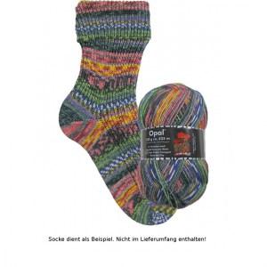 Opal Hundertwasser Sockenwolle 100g - 3202 Use Public Transport - Handarbeit kaufen