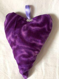 Duftsäckchen Lavendelkissen Herz 50 shades of lilac