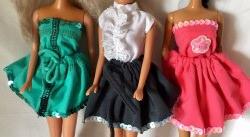 Barbie - Sets, Rocks und Tops, aus Resten von Jersey