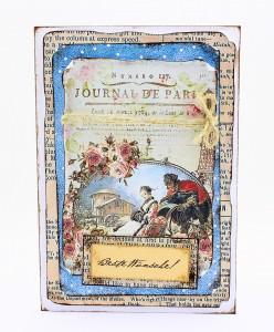 Vintage 3D Grußkarte BESTE WÜNSCHE