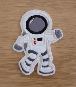 Aufnäher gestickt, Astronaut, Weltraum, Aufbügler, Schulkind, Weltraum